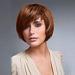 billige Lågløs-Human Hair Capless Parykker Menneskehår Lige Klassisk Høj kvalitet Paryk Daglig