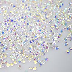 120pcs flatback / sekizgen şekil tırnak sanat süslemeleri glitter taklidi 3d kristal berraklığında ss3 ab elmas parlaklık