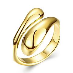billige Motering-Dame Geometrisk Ring - Rose gull, Kobber, Sølvplett 6 / 7 / 8 Sølv / Rose / Gylden Til Bryllup Fest Daglig / Gullbelagt / Gullplatert rose / Gullbelagt / Gullplatert rose