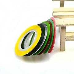 billige Negleklistremerker-7rolls/set Nail Art klistremerke Folie Stripping Tape makeup Cosmetic Nail Art Design