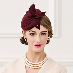 ウール模造真珠の帽子のヘッドピースクラシックな女性のスタイル