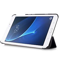 billige Nettbrettetuier-Etui Til Samsung Galaxy Heldekkende etui Tablet Cases Helfarge Hard PU Leather til Tab A 7.0 (2016)