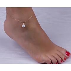 baratos Bijoux de Corps-Tornezeleira - Pérola Europeu, Estilo simples, Fashion Dourado Para Casamento / Festa / Mulheres