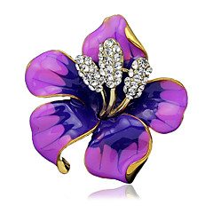 cheap Pins and Brooches-Women's Brooches White Black Purple Red Stylish Jewelry Wedding Party Dailywear Daily Casual Costume Jewelry