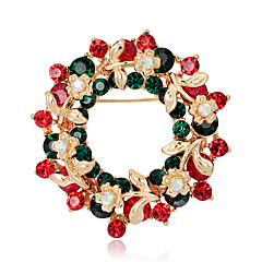 Women's Brooches Flower Style Flowers Floral Circle Flower Geometric Jewelry For Party Casual