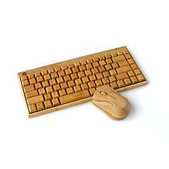 drahtlose Tastatur Bambus Bambus-Holz-Bambus drahtlose Maus-Tastatur
