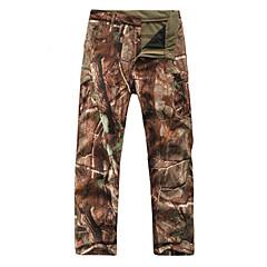 Pantaloni Camuflaj de vanatoare Bărbați Pentru femei Impermeabil Keep Warm Purtabil camuflaj Iarnă Fleece Αντιανεμικά Pantaloni pentru