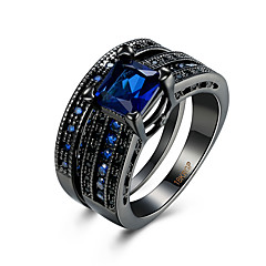 Ring AAA Cubic Zirconia Zircon Copper Titanium Steel Tungsten Steel Simulated Diamond Black Blue Jewelry Daily Casual 1pc
