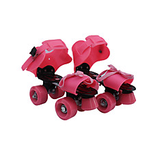 Kinder Erwachsene Roller Skates Rutschfest tragbar Einstellbar Gelb/Rot/Blau/Rosa