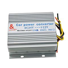 15a משאית לרכב 180W imput 24v dc עד 12V ממיר שנאי אספקת החשמל פלט