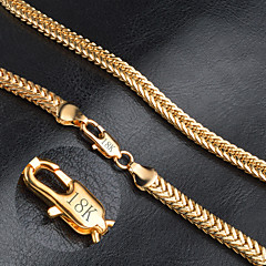 Men's Women's Chain Necklace Gold Chain Necklace , Fashion Wedding Party Daily Casual