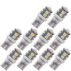 billige Kjørelys-SO.K 10pcs T10 Bil Elpærer 2 W SMD 3528 100 lm 10 LED Blinklys For Universell