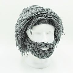 billiga Peruker och hårförlängning-Syntetiska peruker Rak Syntetiskt hår Grå Peruk Herr / Dam Korta hälften Capless Grå