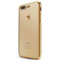 billige Telefoner og nettbrett-Etui Til Apple iPhone X / iPhone 8 / iPhone 7 Belegg / Gjennomsiktig Bakdeksel Ensfarget Myk TPU til iPhone X / iPhone 8 Plus / iPhone 8