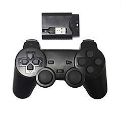 nieuwe draadloze schok game controller voor PS2 / PS3 / pc draadloze controller (2.4GHz / zwart)