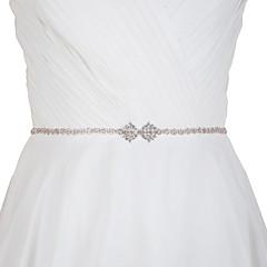 satijn bruiloft feest / avondkleding sjerpen met strass elegante stijl