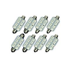 billige Interiørlamper til bil-8x blå 41mm 5050 8smd girlander kuppel kart interiør LED lyspærer de3423 6418