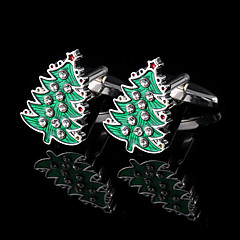 joulukuusi kalvosinnapit miesten nykyinen France paita strassi kalvosinnapit ranneke painikkeet lahjoja miehille koruja lahjapaketti
