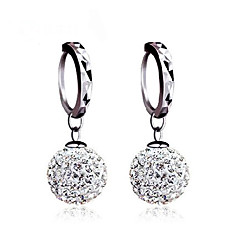 Women's Stud Earrings Ball Earrings Earrings Basic Classic Silver Sterling Silver Cubic Zirconia Imitation Diamond Ball Jewelry For