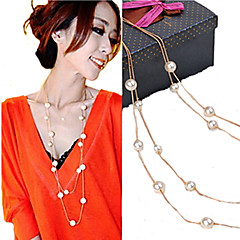 Women's Strands Necklaces Jewelry Pearl Imitation Pearl Elegant Bridal Costume Jewelry Jewelry For Wedding Party Daily Casual