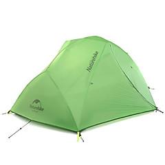 billige Telt og ly-Naturehike 2 personer Telt Dobbelt camping Tent Ett Rom Turtelt Hold Varm Vanntett Bærbar Ultra Lett (UL) Vindtett Regn-sikker