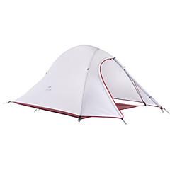 billige Telt og ly-Naturehike 2 personer Telt Utendørs Fukt-sikker, Ultra Lett (UL), Pusteevne Dobbelt Lagdelt camping Tent >3000 mm til Jakt Camping Silikon, polyester, Aluminium