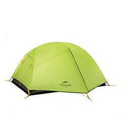 Naturehike 2 personer Telt Dobbelt camping Tent Ett Rom Turtelt Hold Varm Fukt-sikker Velventilert Vanntett Bærbar Vindtett Regn-sikker