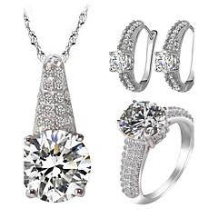 Dame Smykke Sett Rhinstein Imitasjon Diamant Kjærlighed Luksus Smykker kostyme smykker Zirkonium Kubisk Zirkonium Strass Legering 1