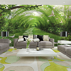 cheap Wall Art-Art Deco 3D Home Decoration Contemporary Wall Covering, Canvas Material Adhesive required Mural, Room Wallcovering