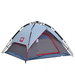 Naturehike 3-4 osoby Stříška Dvojitý Camping Tent jeden pokoj automatický stan Odolný proti vlhkosti Dobře větraný Přenosný Větruvzdorné