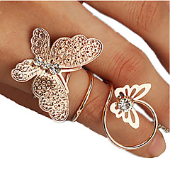 Women's Midi Rings Costume Jewelry Fashion Rhinestone Alloy Jewelry For Party Daily