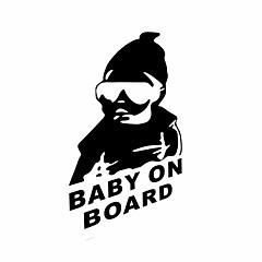 engraçado bebê a bordo adesivo de carro janela do carro parede carro decalque styling