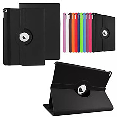 For Case Cover with Stand Auto Sleep / Wake 360° Rotation Origami Full Body Case Solid Color PU Leather for iPad Pro 12.9''