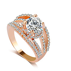 preiswerte -Ring Strass Aleación Strass Imitation Diamant Gold Silber Schmuck Hochzeit Party 1 Stück