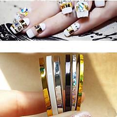 baratos -Jóias de Unhas - Punk - para Dedo - de PVC - com 5pcs - 2mm 、3mm