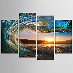 cheap Prints-Print Rolled Canvas Prints - Landscape Still Life Classic Modern Four Panels
