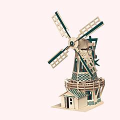 baratos -Quebra-Cabeças de Madeira Cataventos Moinho de Vento Construções Famosas Arquitetura Chinesa Casa Nível Profissional De madeira 1pcs
