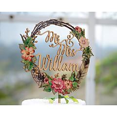 billige Kakedekorasjoner-kake topper hage tema floral tema klassisk tema tema tema klassisk par akryl / polyester bryllupsdagen med # poly-bag