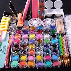 billiga Nagelvård och nagellack-spik dekorationer fin metall glitter spikremsa 2000pc väska blandad rhinestone för spik tips tooks kit nagel spik nagel spik