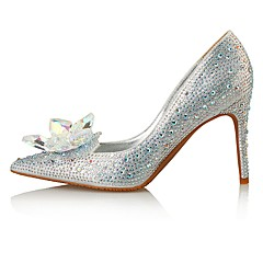 Women's Heels Comfort Novelty Microfibre Leather Glitter Wedding Party & Evening Dress Stiletto Heel Crystal Beading Sparkling Glitter