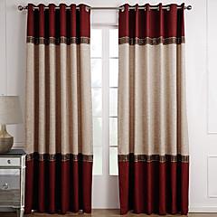preiswerte Fensterdekoration-Maßgfertigt Verdunkelnd Vorhänge drapiert zwei Panele 2*(W183cm×L213cm) / Wohnzimmer