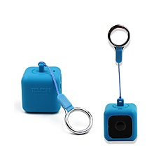 TELESIN Bumper Pendent Case for Polaroid CUBECUBE Action Lifestyle Cameras with Necklace Lanyard and Removeable Clip