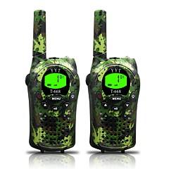 billige Walkie-talkies-T668 462 迷彩 Håndholdt Programmeringskabel / Strømsparefunksjon / VOX 3-5 km 3-5 km 22 0.5 W Walkie Talkie Toveis radio