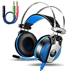 billiga Over-ear-hörlurar-KOTION EACH GS500 Över örat / Headband Kabel Hörlurar Piezoelektricitet Plast Spel Hörlur Med volymkontroll / mikrofon / Ljudisolerande