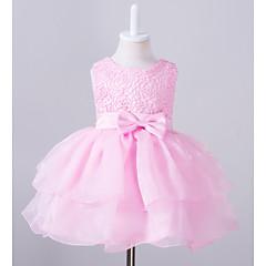 billige Pigekjoler-Baby Pige I-byen-tøj Ensfarvet Uden ærmer Kjole