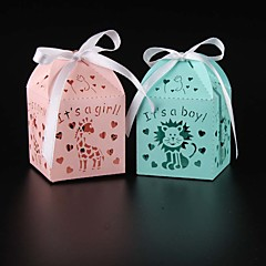 50pcs animal baby and girl baby shower candy box party supplies