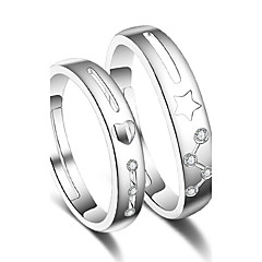 cheap Rings-Women's Couple Rings Ring Silver Platinum Plated Stylish Wedding Party Special Occasion Party / Evening Costume Jewelry