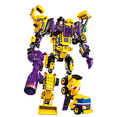 צעצועיערכת עשה זאת בעצמך אבני בניין צעצוע חינוכי רובוט צעצועים צעצועים לוחם מכונה רובוט מלגזה מכונות חפירה טרנספורמבל נערים חתיכות