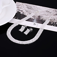 4 Rows Necklace Rhinestone Choker Necklaces Jewelry Engagement Wedding Party Christmas GiftsBasic Design Rhinestone Euramerican Fashion