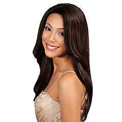 billiga Peruker och hårförlängning-Indiskt hår Klassisk / Yaki Human Hår vävar Hårförlängning av äkta hår Mellanbrun